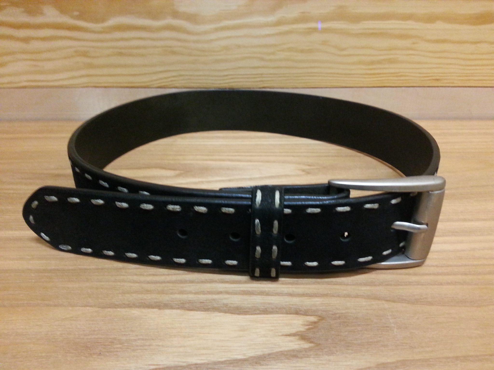 3D 1 1//2 Black Mens Western Basic Belt