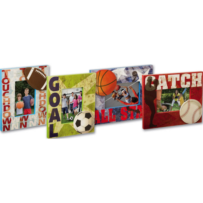 Cypress Home Wood Sports Photo Frames, 4x6 Photo