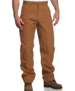 carhartt men's double front duck utility work dungaree b01,carhartt brown