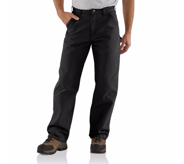 CARHARTT WASHED DUCK WORK PANT BLACK