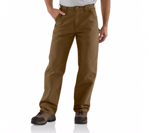 CARHARTT WASHED DUCK WORK PANT BROWN