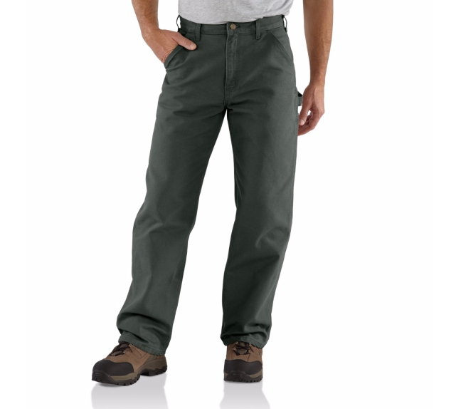 CARHARTT WASHED DUCK WORK PANT MOSS