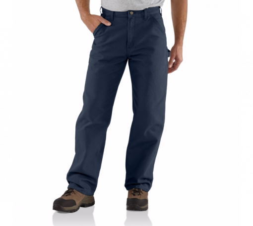 CARHARTT WASHED DUCK WORK PANT PETROL BLUE