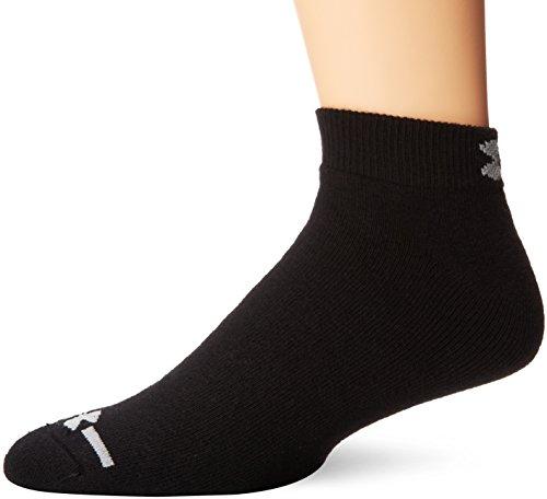 under armour men's charged cotton low cut socks (6 pair), black, x-large