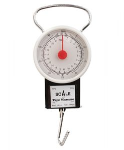 eagle claw 50 lb. dial scale & tape measure