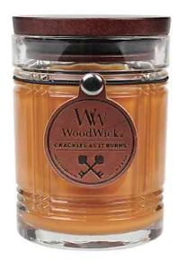 woodwick leather candle