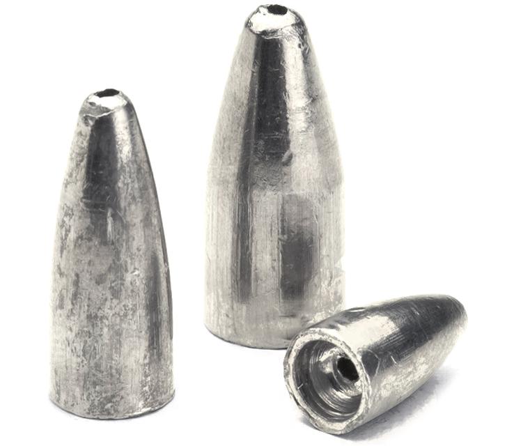 bullet weights slip sinker 1/4 oz ,10 pk.