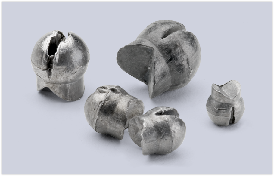 bullet weights reusable split -shot #1/ 7 pc.