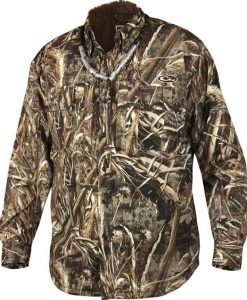 drake mst waterproof fleece-lined jac-shirt