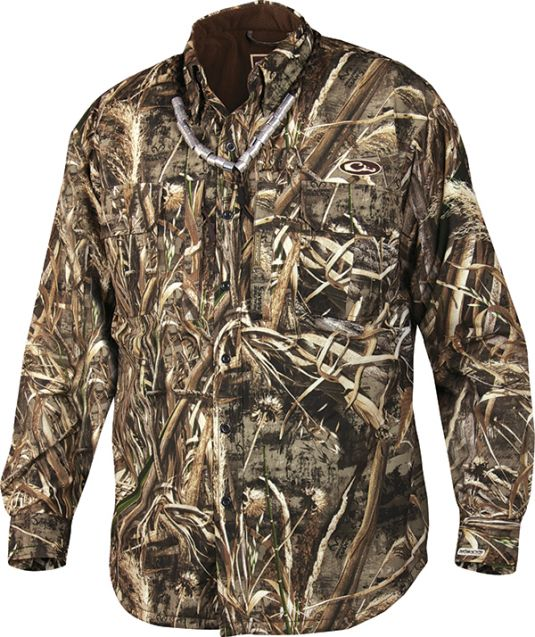 drake mst waterproof fleece-lined jac-shirt