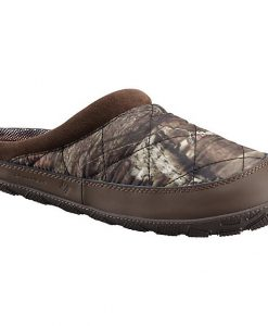 columbia women's packed out ii omni-heat camo moc slipper