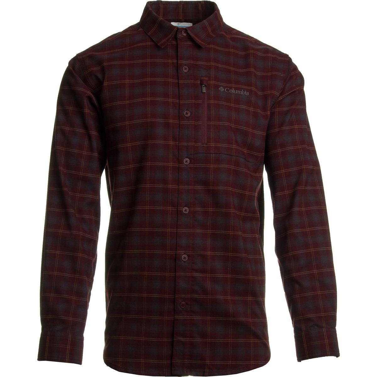 columbia men's royce peak flannel long sleeve shirt