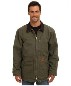 carhartt men's ridge coat sherpa lined sandstone,army green