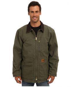 carhartt men's ridge coat sherpa lined sandstone,army green