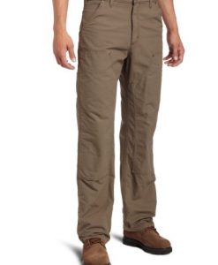 carhartt men's double front canvas work dungaree,light brown