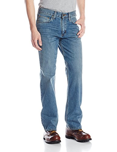 carhartt men's relaxed straight leg five pocket jean,pioneer blue