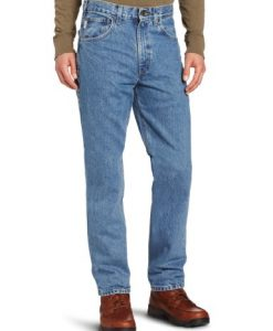 carhartt men's traditional fit five pocket tapered leg b18