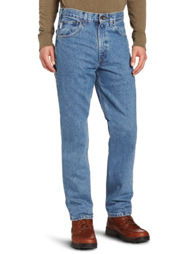 carhartt men's traditional fit five pocket tapered leg b18
