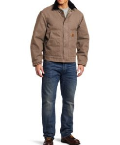 carhartt men's sherpa lined sandstone dearborn jacket mushroom