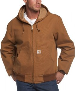 carhartt men's thermal lined duck active jacket j131 carhartt brown