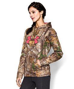 under armour women's ua big logo camo hoodie