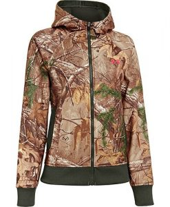 under armour women's ua realtree camo full-zip hoodie camouflage