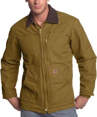 67110e41 Carhartt Men's Ridge Coat Sherpa Lined Sandstone