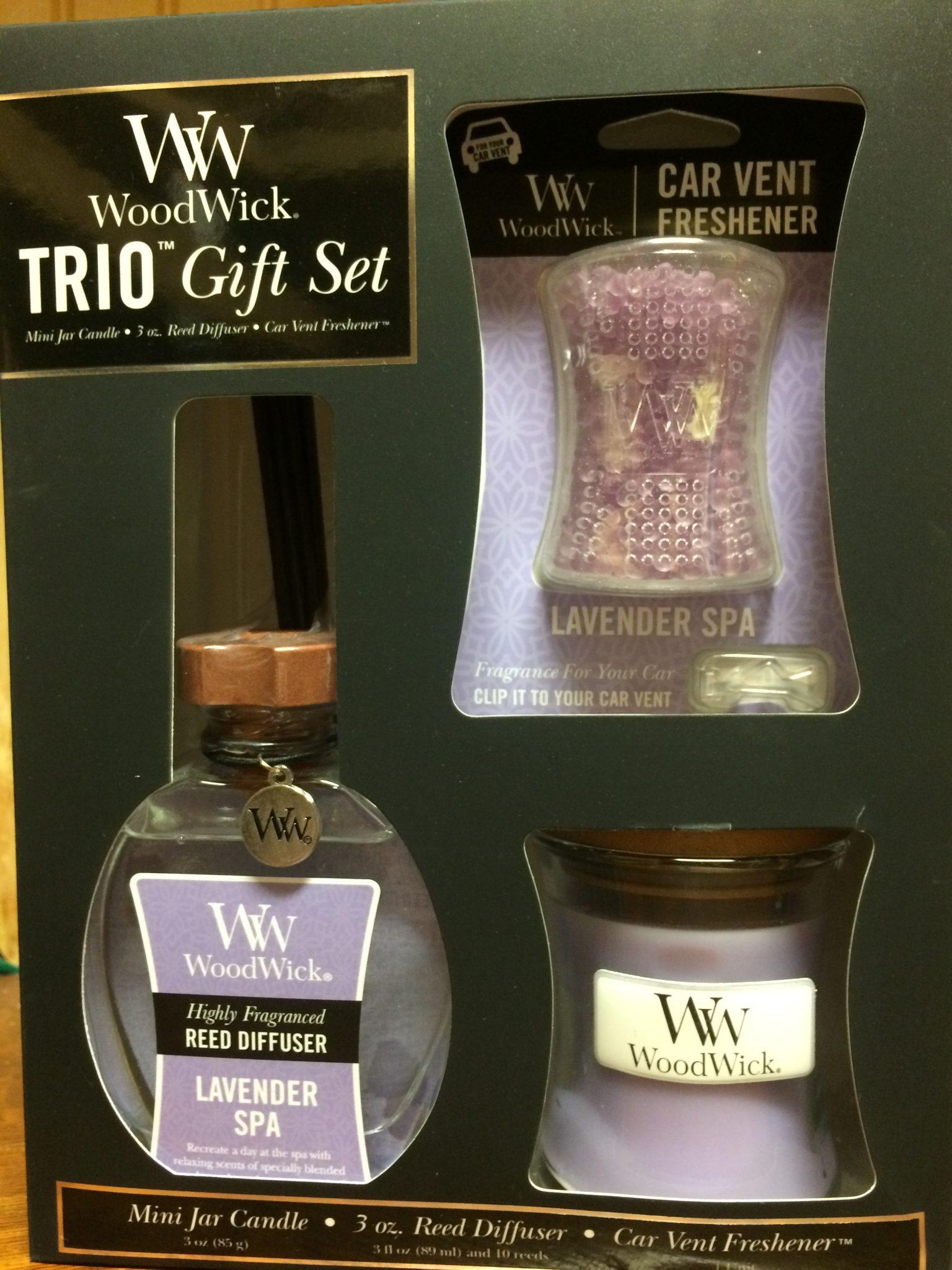 woodwick trio gift set