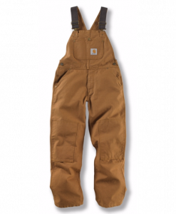 carhartt youth duck washed bib overall