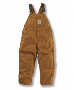 carhartt child's duck washed bib overall