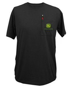 john deere black logo tshirt