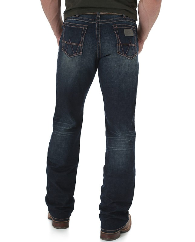 wrangler retro mid rise relaxed fit boot cut jean