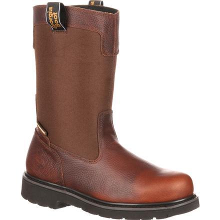 georgia boot men's glennville waterproof wellington work boots