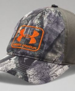 under armour men's camo stretch fit cap