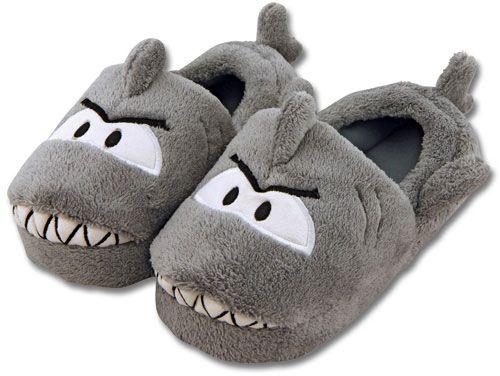 stephen joseph toddler silly slippers - shark