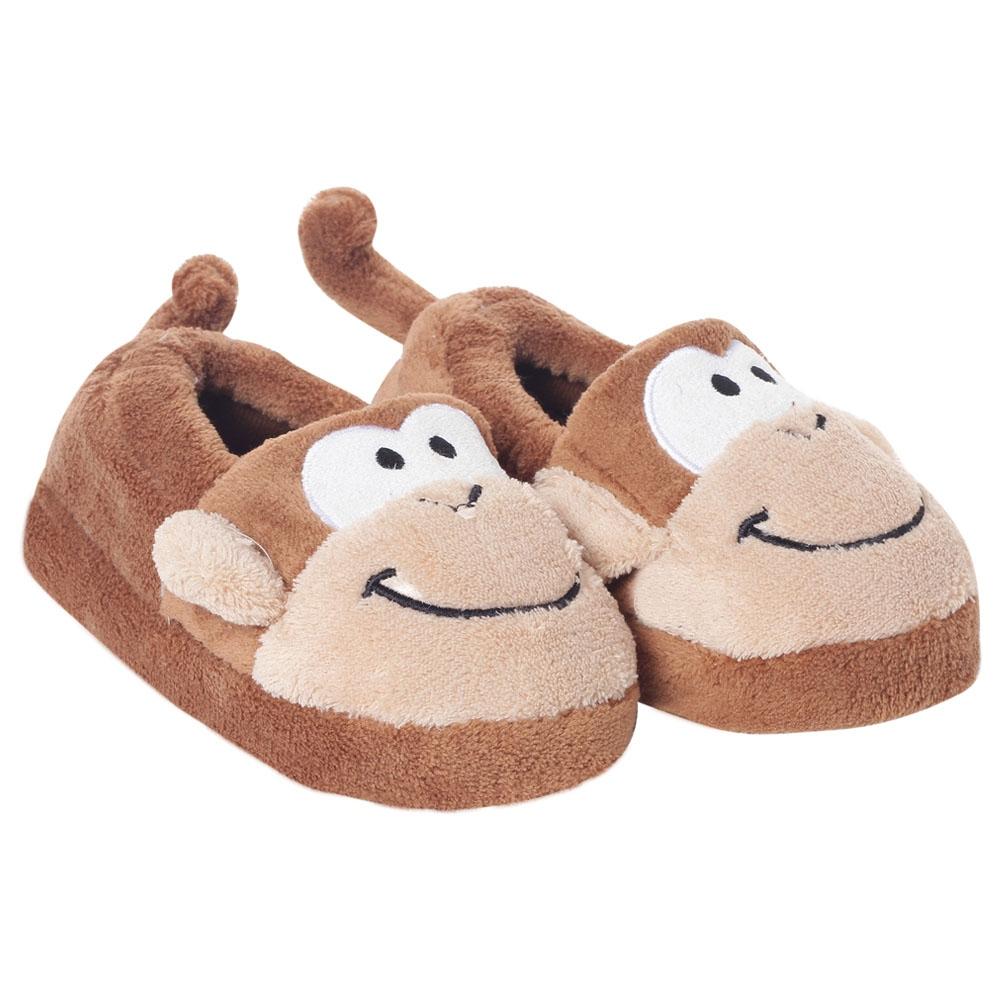 stephen joseph toddler silly slippers - monkey