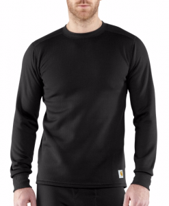carhartt base force super- cold weather crewneck top