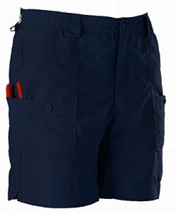 aftco bluewater m01l long traditional fishing shorts - navy blue -