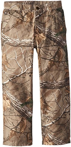 carhartt big boys' washed work camo dunagree pant, realtree xtra