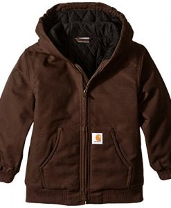 carhartt little boys' active duck jacket, mustang brown