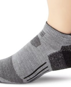 carhartt men's all terrain low cut tab socks, gray, 10-13 sock 6-12 shoe