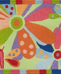 jellybean cellophane garden rug