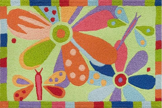 jellybean cellophane garden rug