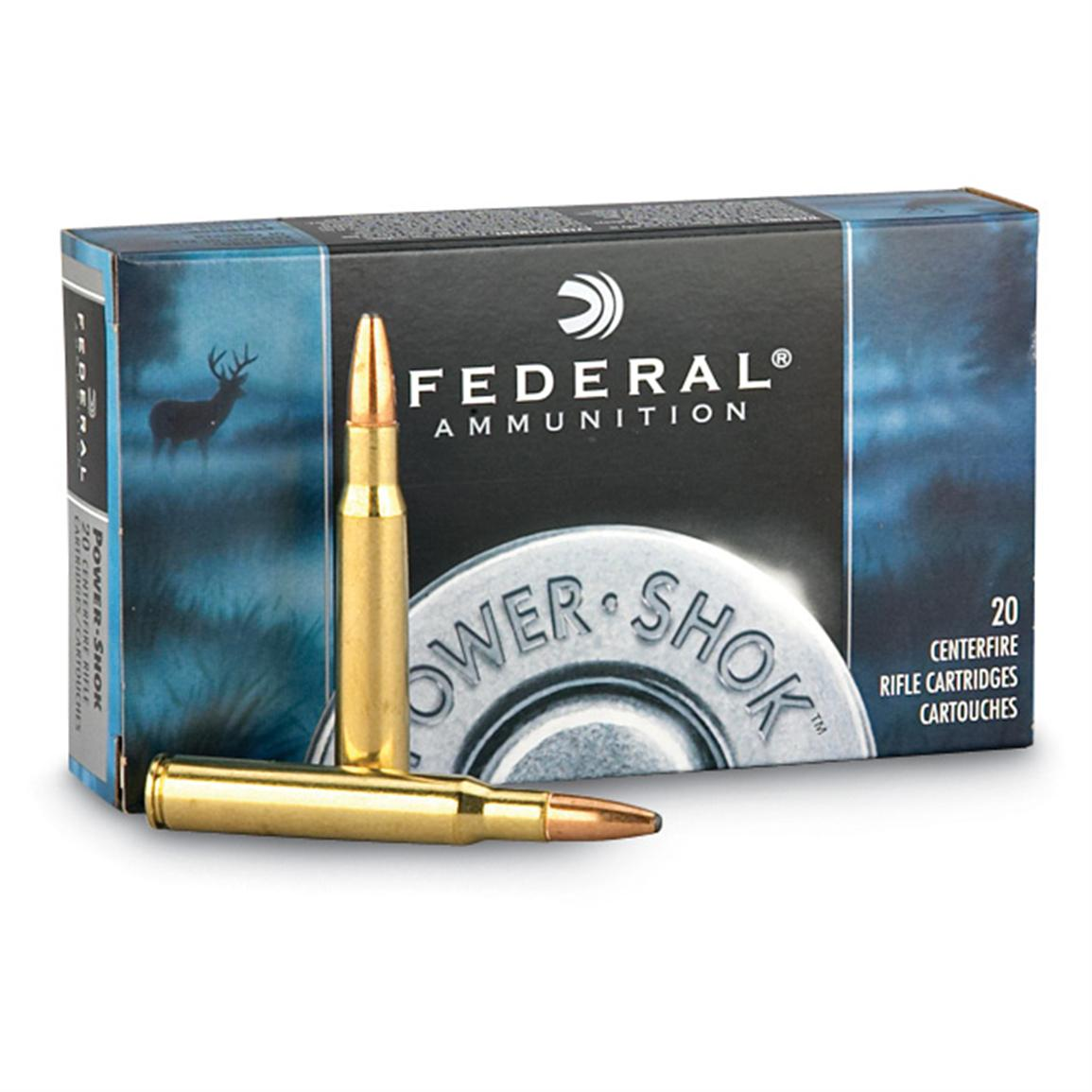 federal power-shok .303 british 150 grain sp 20 rounds