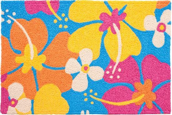 jellybean groovy hibiscus rug