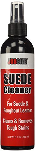 jobsite premium suede and nubuck leather cleaner liquid