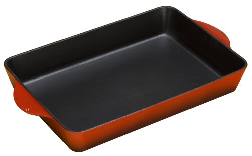 lodge color enamel roaster, island spice