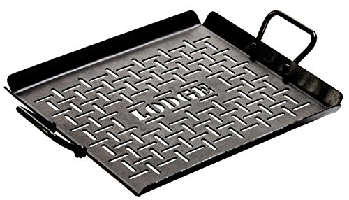 lodge logic pre-seasoned carbon steel grilling pan, 12-inch