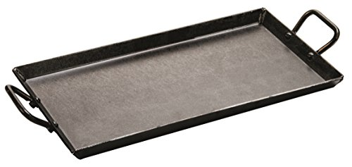 lodge logic pre-seasoned carbon steel griddle, 18-inch