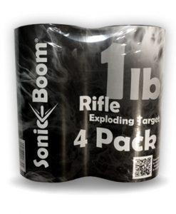 sonic boom 1lb rifle exploding target- orange 4 pack